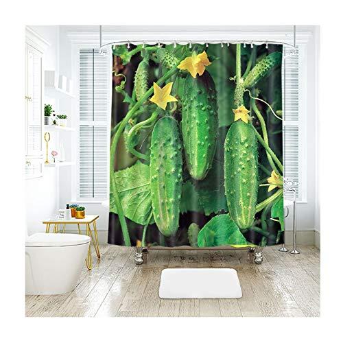 Coniea Badewanne Zubehör Gemüsegurke Mehrfarbig Badvorhang Antischimmel 200X180Cm (Grau Zebra Duschvorhang)