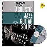 Acoustic Jazz Guitar Solos-20Jazz Classics partitions de Michael Langer-Carnet de note et Tab-auteur: avec CD et Dunlop plek-dux9089783868493191