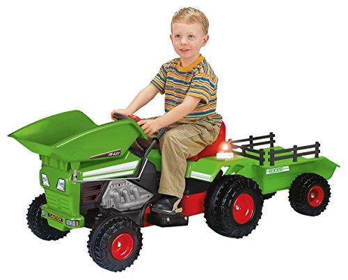INJUSA - Tractor Dump Trac con volquete y Remolque, Equipado con Luces y Sonidos, Recomendado para niños de más de 3 años, batería 6V (637)