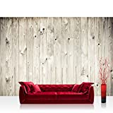 Vlies Fototapete 350x245 cm PREMIUM PLUS Wand Foto Tapete Wand Bild Vliestapete - WEATHERED WOOD PLANK - Holzoptik Holzwand HolzPanel weißes Holz altes Holz - no. 091