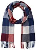 Gant D2. Multi Check Wool Scarf Echarpe, Rouge (Mahogany Red 617), Unique (Taille Fabricant: Oversize) Homme