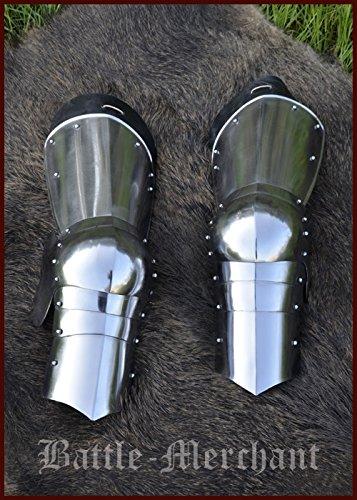 1 Paar Spätmittelalter-Beinzeug aus 1,2 mm Stahl Rüstung für Beine Schaukampftauglich LARP Mittelalter Wikinger -