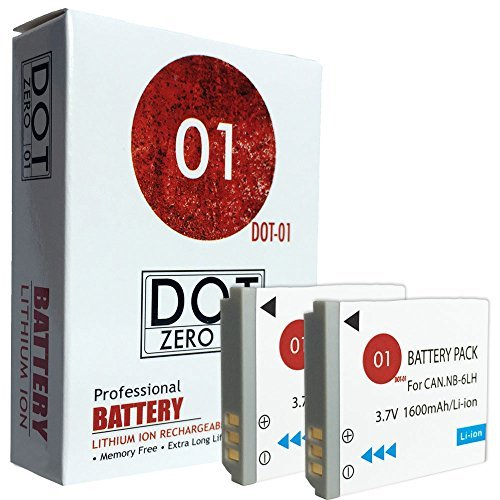 2x DOT-01 Brand 1600 mAh Replacement Canon NB-6L Batteries for Canon Powershot SX710 HS SX610 HS SX530 HS SX260 HS SX500 IS SX600 IS SX510 SX170 SX280 HS SX520 D10 D20 ELPH 500 HS S90 S95 SD1200 IS SD1300 IS SD3500 IS SD4000 IS SD770 IS SD980 IS S120 Digital SLR Camera and Canon NB6L  available at amazon for Rs.2713