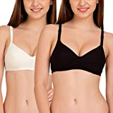 #5: Tweens Off-White & Black Full Coverage Padded T-Shirt Bra (Pack of 2)