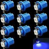 HopeU5® 10 x Car T5 B8.5D 5050 1 SMD Blue C5W Lato interno LED Lampadina lampada per luce strumento indicatore, luce laterale, lampada aria condizionata