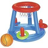 Bestway 52190 - Juego Canasta Baloncesto Hinchable Flotante para Piscina, incluye Balón Hinchable, ...