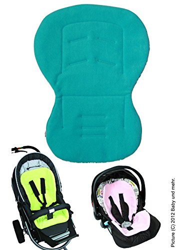Preisvergleich Produktbild ByBoom® - Baby Sitzauflage / Sitzeinlage Moby mit Sommer- und Winterseite, Universal für Babyschale, Autokindersitz, z.B. für Maxi-Cosi, Römer, für Kinderwagen o. Buggy; AQUA