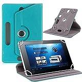 samLIKE tablet hülle,Universal Leder Flip Case für 7 Zoll Android Tablet PC (Himmelblau)