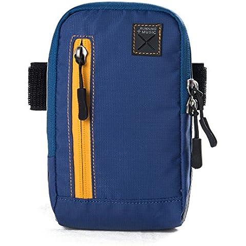 Bolsos de brazo AONIJIE para clave de monedero móvil de bolsa de deportes al aire libre con correa para el brazo-hombro - azul