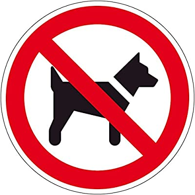 Verbotszeichen - Mitführen von Hunden verboten - Selbstklebende Folie