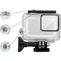 Faironly Professional 45M Waterproof Diving Housing Shell Case Cover for GoPro Hero 7 Silver/White