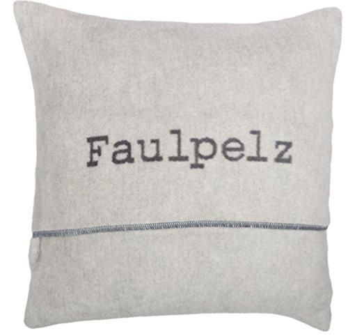 David Fussenegger VERONA - Kissenhülle/Kissenbezug - Baumwollmischung -Faulpelz - Farbe: filz - 50 x 50 cm
