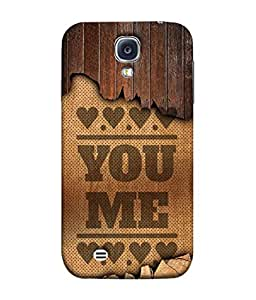 PrintVisa Designer Back Case Cover for Samsung Galaxy S4 I9500 :: Samsung I9500 Galaxy S4 :: Samsung I9505 Galaxy S4 :: Samsung Galaxy S4 Value Edition I9515 I9505G (Love Lovely Attitude Men Man Manly)