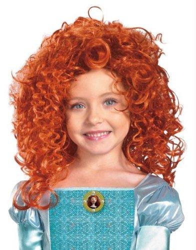 Brave-Merida Kinder Perücke Halloween Kostüme Cosplay Wig Perücke Haar für Maskerade Make-up (Kostüm Erwachsene Für Brave Merida)
