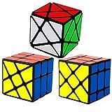 """HJXDtech- Yongjun Giocattoli educativi Classico Nero """"3 Spadaccino"""" Set del cubo magico irregolare torsione puzzle del cubo (Fisher Cube + Axis Cube + Hot Wheels cubo)"""