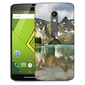 Snoogg Mirror Image Of Mountain Designer Protective Phone Back Case Cover For Moto G 3rd Generation