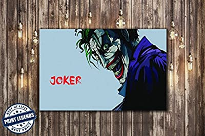Joker Comic Movie Canvas Print - Canvas Art - Wall art - Framed Print
