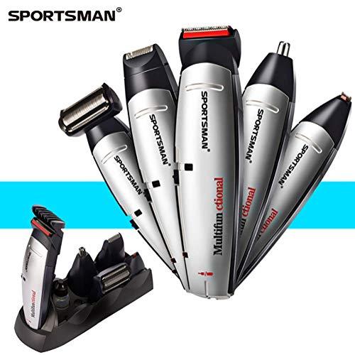 Delilya Bartschneider-Set, 5 in 1 Multifunktions-Haarschneidegerät für Männer Bartschneider-Set Körperpflege-Set für Schnurrbartschneider Nasenhaarschneider Präzisionsschneider