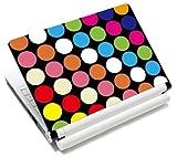 MySleeveDesign Notebook Skin Aufkleber Folie Sticker für Geräte der Größe 10,2 Zoll / 11,6-12,1 Zoll / 13,3 Zoll / 14 Zoll / 15,4-15,6 Zoll mit VERSCH. DESIGNS - Points Black