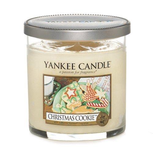 YANKEE CANDLE Bougie Petite Colonne « Cookie de Noël », crème