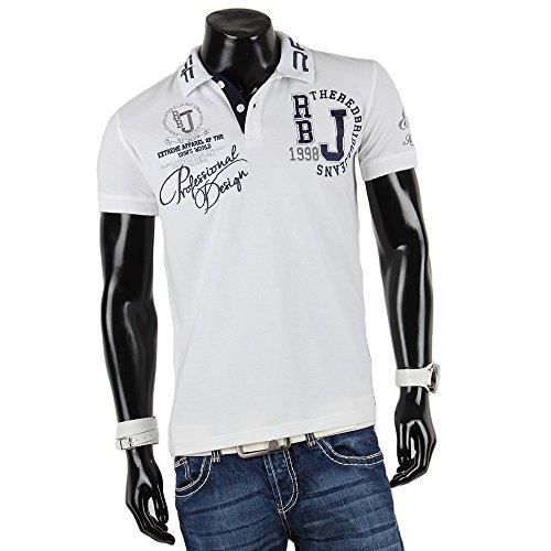 REDBRIDGE BY CIPO & BAXX Herren Kurzarm Poloshirt Weiß