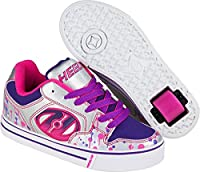 Heelys Motion Plus, Unisex Kids�?? Low-Top Sneakers, Multicoloured (Silver / Pink / Purple Drip), 3 UK (35 EU)