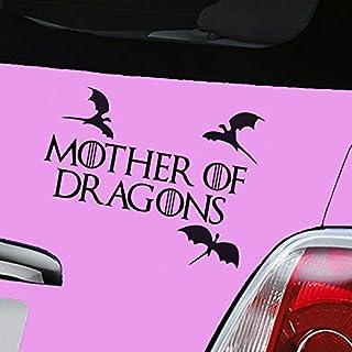 "Autoaufkleber aus Vinyl, Motiv ""Mother of Dragons Game of Thrones"", Schwarz"