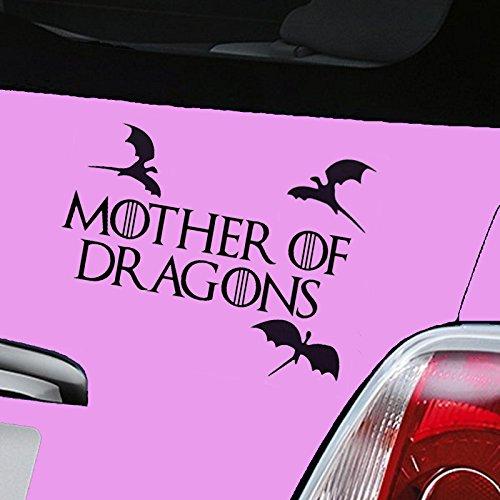 """Produktbild Autoaufkleber aus Vinyl, Motiv """"Mother of Dragons Game of Thrones"""", Schwarz"""