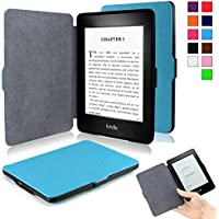 Infiland Kindle Paperwhite SmartShell Case - The Thinnest and Lightest Leather Cover for All-New Amazon Kindle Paperwhite (Fits All paperwhite versions: 2012, 2013, 2014 and 2015 All-New 300 PPI Versions with 6