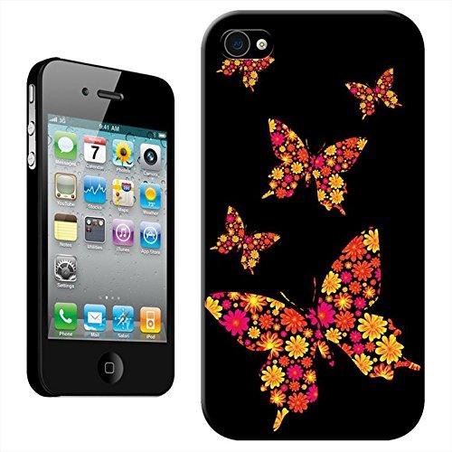 Flying Paradis Coque arrière rigide détachable pour Apple iPhone modèles, plastique, Birds Of Paradise, iPhone 5C Black Beauty Butterfly