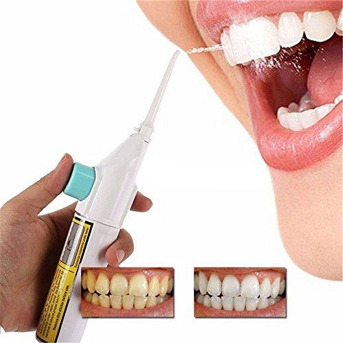 Aptoco GenKent Spazzolini elettrico con getto d'acqua, portatile, per la pulizia dei denti, senza cavo, non necessità di batterie o alimentazione