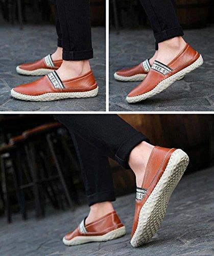 Pumpe Schlüpfen Beiläufig Schuhe Männer Pure Farbe Britischen Stil Brettspiele Sneaker Fahrschuhe Eu Größe 38-44 coffee