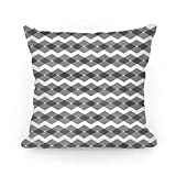 TEPEED Black Zig Zag Pattern Throw Pillow Covers Cushion Case 18x18 inches