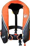 Kru Sport 185N - Professionelle Vollautomatik-Rettungsweste Schwimmweste LIF7227 - EN ISO 12402-3 (orange/schwarz)