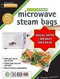 200 x medium quickasteam microwave steam cooking bags - SUPER VALUE
