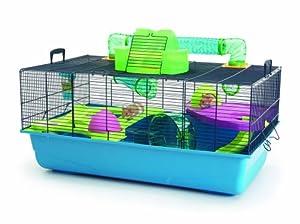 Savic Hamster Heaven Navy Blue Hamster Cage, 80 x 50 x 50 cm