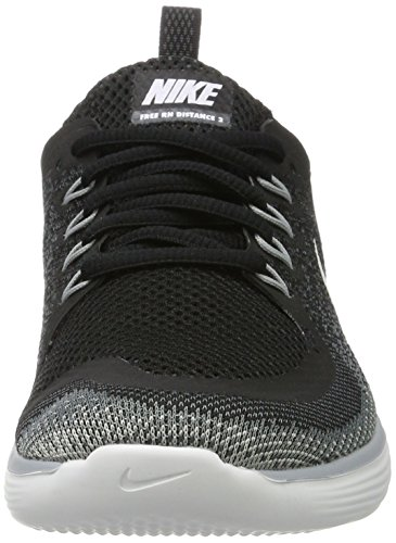 Nike Damen Free Run Distance 2 Laufschuhe Schwarz (Black/White-Cool Grey-Dark Grey)