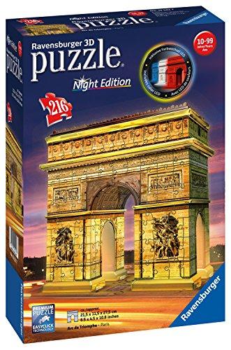 Ravensburger 12522 7 Puzzle-Triumphbogen bei Nacht