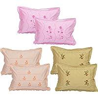 "HSR Collection Cotton Pillow Cover - 18""x28"", Set of 6, Multicolor"