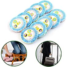 20pcs Mini forma toalla comprimida- TIANOR comprimir toalla viaje mágico, 25*26CM, Mini toallitas lavado trapos reutilizables de paño no tejido spunlace (colores surtidos)