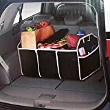 2 en 1 Bag Pliable Collapsible Auto Sac de Rangement Grand Format Sac de Stockage Organisateur Sacoche Portable pour Coffre Voiture
