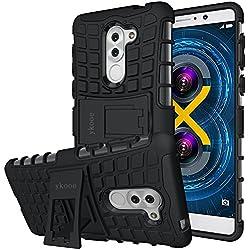 Cover Honor 6X, ykooe Honor 6X Super Protettiva Cellulari Custodia Antiscivolo Due strati Cover Supporti Funzione per Honor 6X Smartphone (5.5 pollici)