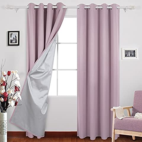 Deconovo Eyelet Curtains Ready Made Room Darkening Thermal Insulated Ring