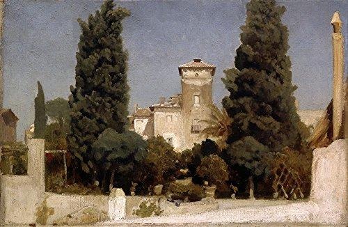 Das Museum Outlet–Frederic, Lord Leighton–die Villa Malta, Rom–Leinwand Print Online kaufen (76,2x 101,6cm)