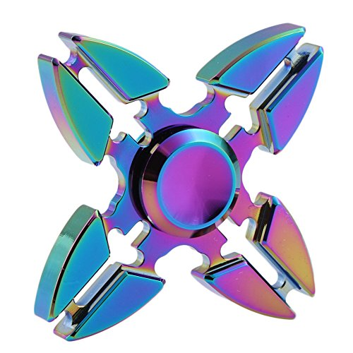Walwh Aluminum Alloy Colourful Fidget Hand Spinner EDC Focus Anxiety Stress Relief Toys