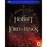 Extraordinary Middle-Earth Collection from Beginning to End: The Lord of the Rings Trilogy: Fellowship of the Ring + The Two Towers + Return of the King & The Hobbit Trilogy: An Unexpected Journey + The Desolation of Smaug + Battle of the Five Armies
