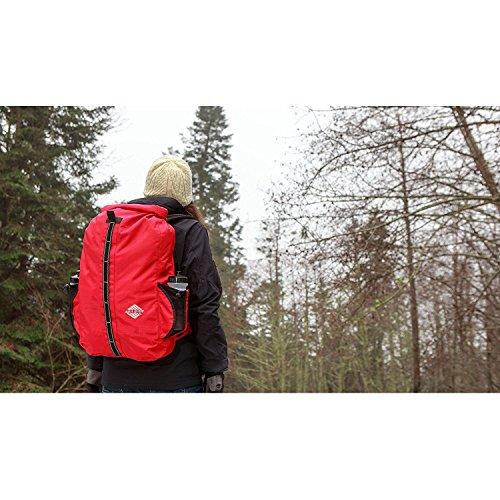 Aqua Quest SPORT 30 L Borse Impermeabile Zaino Carbone - Roll-Top Protegge il tuo Computer Portatile durante le Escursionismo, Campeggio e Viaggio rosso  - rosso