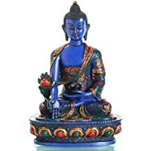 HxB: 12x9cm Medizin Buddha dreifarbig verziert Alterras Figur