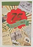 Stecker Alter 7575. Jahr Sie geboren wurden, in 1943Geburtstagskarte