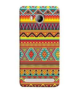 PrintVisa Designer Back Case Cover for Vivo Xshot :: Vivo X Shot (Artistic Rangoli Design In Orange And Yellow Colours)